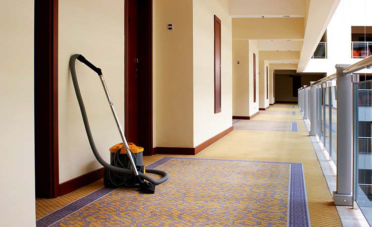 Cleaning Services - Clean hotel hallway
